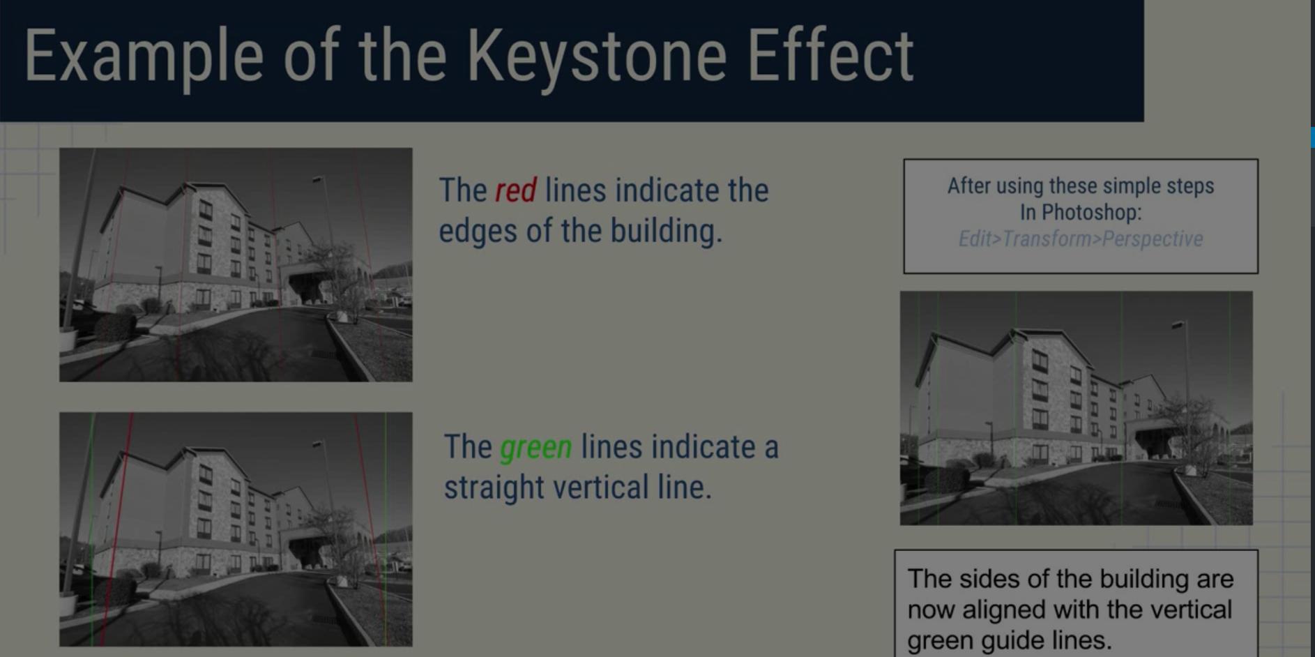 Through The Lens 2 - Vertical Perspective Correction +